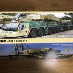 兵庫県尼崎市より建機模型 ミニチュアを宅配買取  NZG 1/50 LIEBHERR LTM 11200